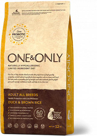 картинка ONE&ONLY Adult All Breeds Duck & Rice от магазина