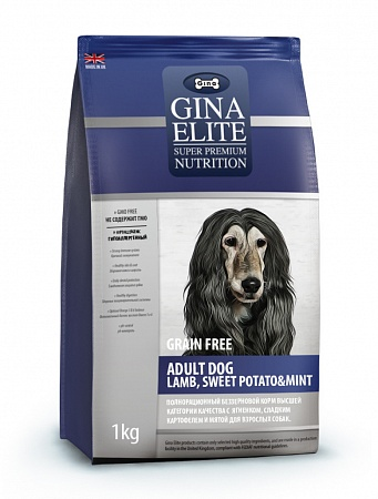 картинка GINA Elite Adult Dog Lamb, Sweet Potato & Mint от магазина