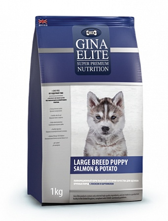 картинка GINA Elite Puppy Large Breed Salmon & Potato от магазина