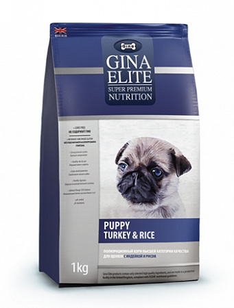 картинка GINA Elite Puppy Turkey & Rice от магазина